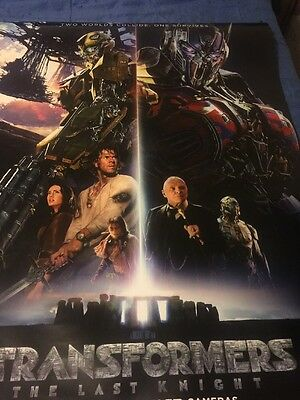 Transformers: The Last Knight Official Movie Poster DS 27x40