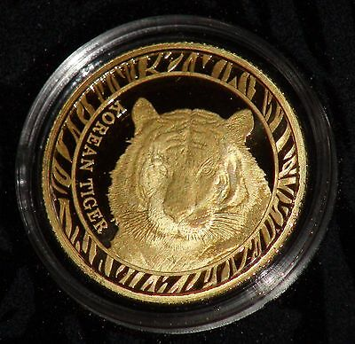 2016 South Korea 1/4 oz Korean Tiger .9999 Gold Bullion Medal w/ Box & CoA#0927