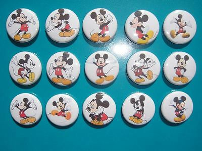 15 Mickey Mouse buttons flat back or pin badge cabochons embellishments magnet