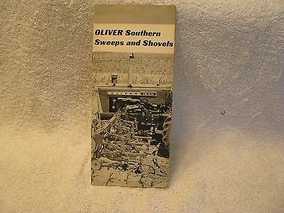 1965 Oliver Southern Sweeps and Shovels Brochure with 1850 Tractor RARE!!