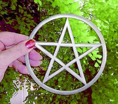 Pewter Altar Pentacle 14.2cm ~ Wicca Ritual Decoration Witches Pentagram