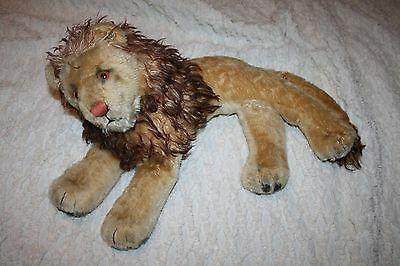 VINTAGE STEIFF Reclining LEO the LION 26 inches MOHAIR