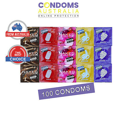 FOUR SEASONS Flavoured 100 Condoms Hens Bucks Party Night Gift Fun Novelty