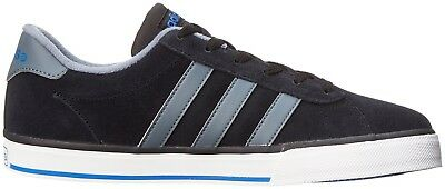 (10 C/D US, Black/Lead/Satellite) - adidas NEO SE Daily Vulcanised Fashion Sneak