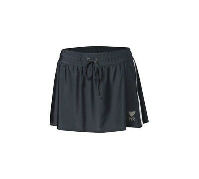 (Medium, Steel Gray) - TYR Female Two Toned Running Skirt. Free Delivery