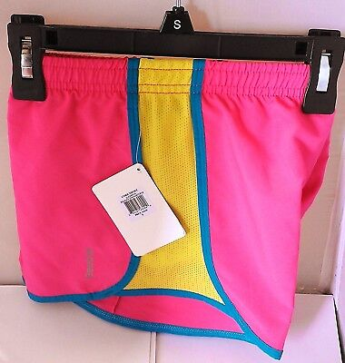 Reebok PlayDry Girl's Pink Running Shorts size S (8-10). Best Price