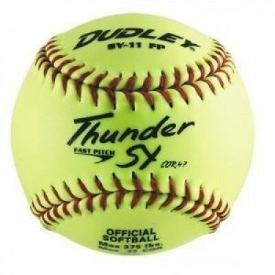 Dudley Thunder SY 28cm Slow Pitch Softball - Synthetic Cover - Dozen. Delivery i