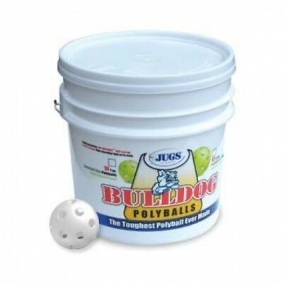 JUGS Bulldog White Poly Baseballs - Bucket of 18 balls B6007. Best Price