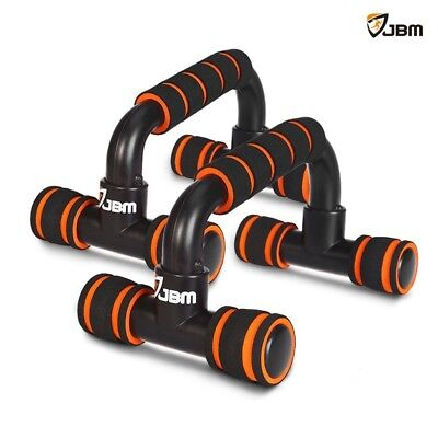 (Adult, Orange) - JBM Perfect Muscle Push up Pushup Bars Stands Handles Aid Equi