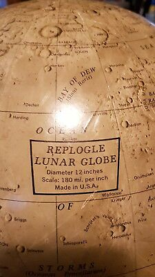 "Vintage Replogle 12"" Lunar Globe with Stand"