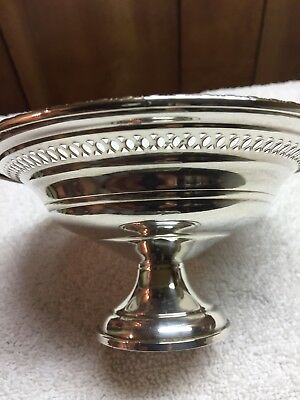 Vintage Weighted Sterling Silver Candy Dish Lattice PatternTeardrop Edge Design