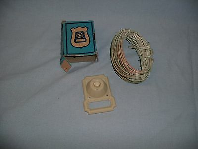 Old Vintage Bakelite Eagle Brand Doorbell Button Two Wire With Wire Included
