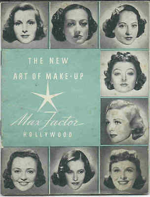1940's Film Star Gallery!! Max Factor's THE NEW ART OF MAKE-UP Pamphlet Booklet