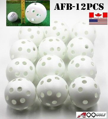 "A99 Air Flow Ball White 7.5cm/2.95"" Training Balls for Baseball or Softball - 12"