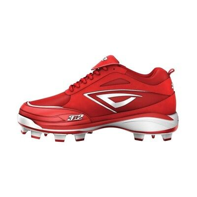 (Size 6.5, Red/White) - 3N2 Women's Rally TPU PT Fastpitch Baseball Cleat. Huge