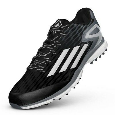 (8 D(M) US) - Adidas Power Alley 3 Turf Black/White ( Q16554 ). Free Shipping
