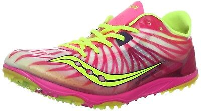 (11 B(M) US, Pink/Citron) - Saucony Women's Carrera XC Cross-Country Shoe. Brand