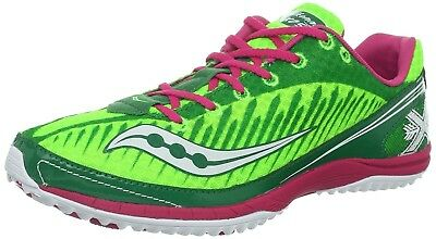 (5 B(M) US, Green/Pink) - Saucony Women's Kilkenny XC5 Cross Country Spike Shoe.