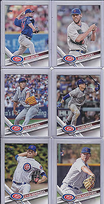 2017 Topps Series 2 Chicago Cubs Team Set - (10) Cards