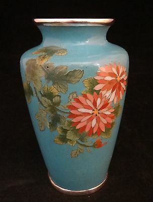 "Fine Japanese Cloisonné Vase with floral design, Early 20th cent.  5 1/8"" tall"