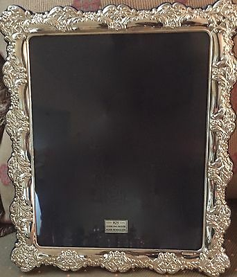"Hallmarked Sterling Silver ""large"" English Picture Frame (New In Box)"