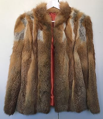 Vintage 1980s Red Fox Fur Coat 1987 Classic  Medium 12 Selling On Behalf Charity