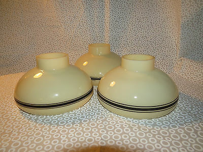 3 Vintage Art Deco Custard Cup Slip Shade Chandelier Glass Globes Antique Light