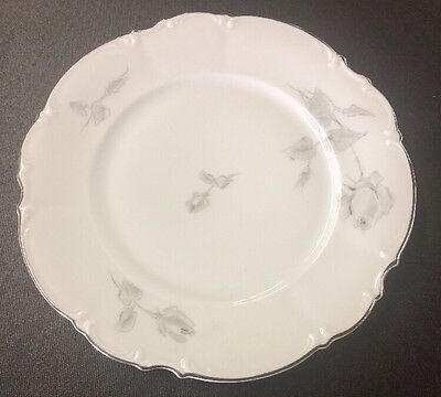 Hutschenreuther Germany Sylvia Gray Rose Dinner Plate 10 Inch