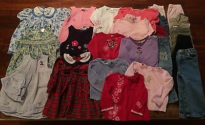 Lot of36 Toddler Girls Clothes Size 24M/2T Dresses Pants LS Tops PJs Fall Winter