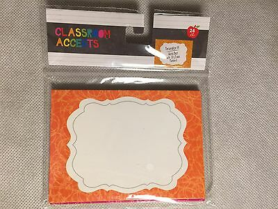 Set of 24 Colorful Scalloped Frame Shapes / Classroom Accents - Teacher Resource