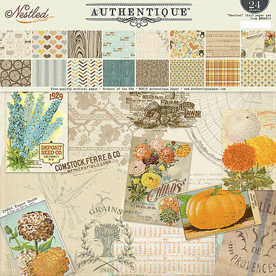 Authentique Nestled 12x12 Paper Pad