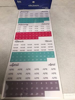 Love Nicole Calendar / Planner Date and Month Stickers - 606 stickers