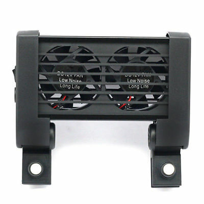 Cooling Fan Ventilateur 2 fans Aquarium Chillers 80L Fish Tank + Adaptateur 12V