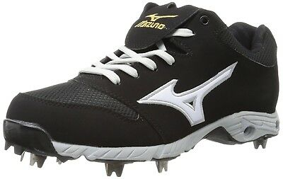 (9 D(M) US, Black / White) - Mizuno Men's Advanced Pro Elite Baseball Cleat. Hug