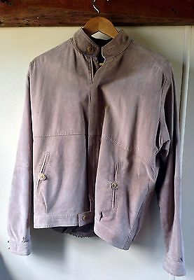 "Retro Suede Men's Jacket: Stephen Dattner, Size 100cm / 40"", Tan (5955)"