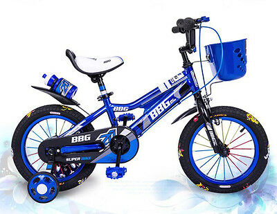 New Simple 14' Blue Baby 2 Wheels Children's Bicycle Kids Bike !