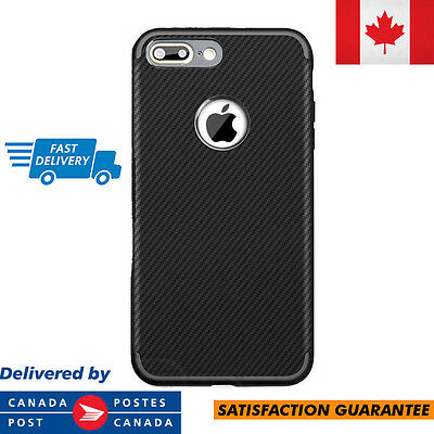 For Apple iPhone 7 Case Carbon Fiber TPU Material Matte Finish Armor Defender