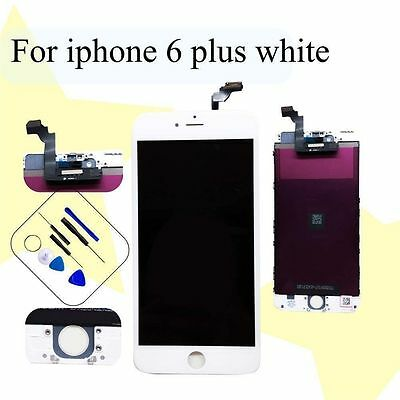 White Replacement LCD Display Touch Screen Digitiser Full Unit For iPhone 6 plus