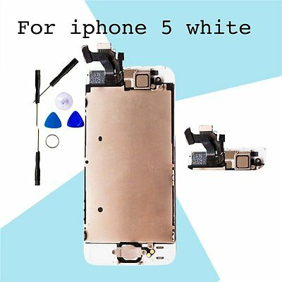 LCD Display Touch Screen Digitizer Full Replacement & Home button with iPhone5