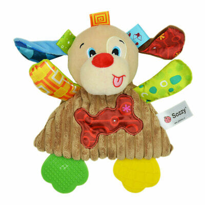 Sozzy Baby Infant Kids Plush Toy Soft Towel With Sound Paper&Teether Function