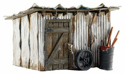Tin Shack from Woodland #BR5056 - Fully weathered N SCALE Model Train layout