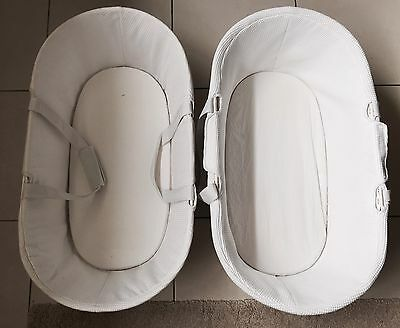 Childcare White Moses Baskets x2