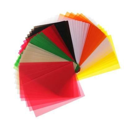 """50 Sheets 6""""x4"""" Coloured Translucent Tracing Papers for Cardmaking Art Craft"""