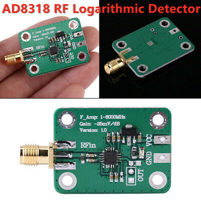 1-8000MHz AD8318 RF Logarithmic Detector 70dB RSSI Measurement Power Meter im