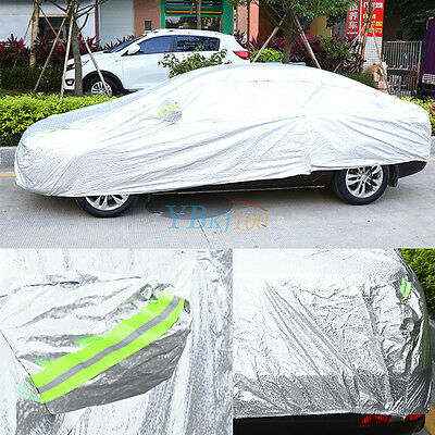 High Quality Double thick Waterproof Car Cover Rain Resistant UV Dust Protection