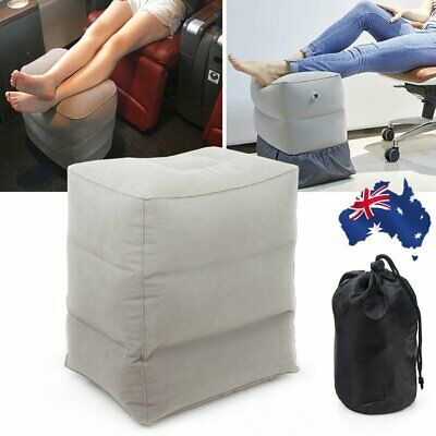 NEW Inflatable Travel Footrest Leg Rest Travel Pillow Kids' Bed to Lay Down BO