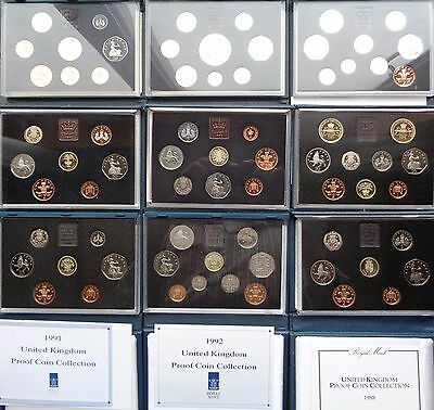 1983-1999 Royal Mint Proof Coin Set Blue Deluxe Choose Your Year