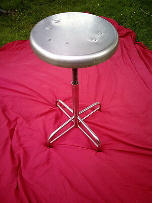vintage 50s/60s stainless steel and chrome industrial / medical stool