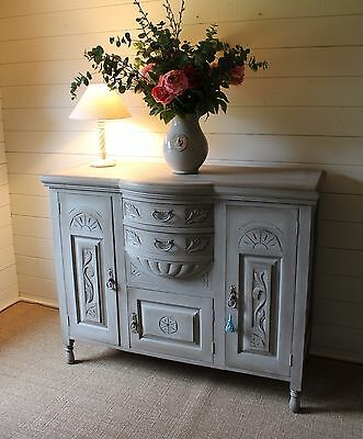 """Outstanding """"rustic Painted"""" Mahogany Late Victorian Sideboard/farmhouse Style"""
