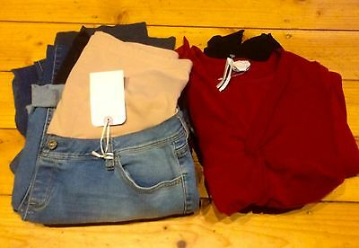 7 Fresh Mums Maternity Dress Tops Trousers Jeans Shorts Breast Feeding Size 12